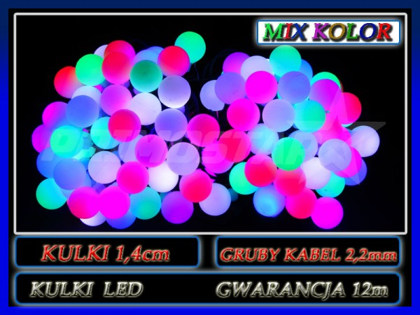 kulki 80 led mix 14cm